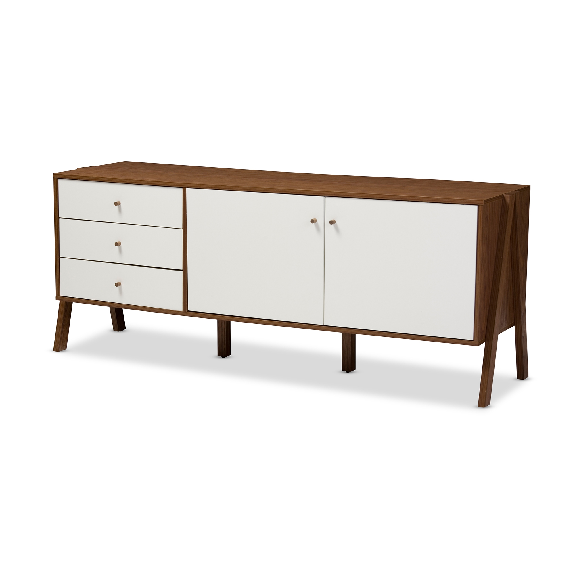 scandinavian furniture style. baxton studio harlow midcentury modern scandinavian style white and walnut wood sideboard storage cabinet furniture b