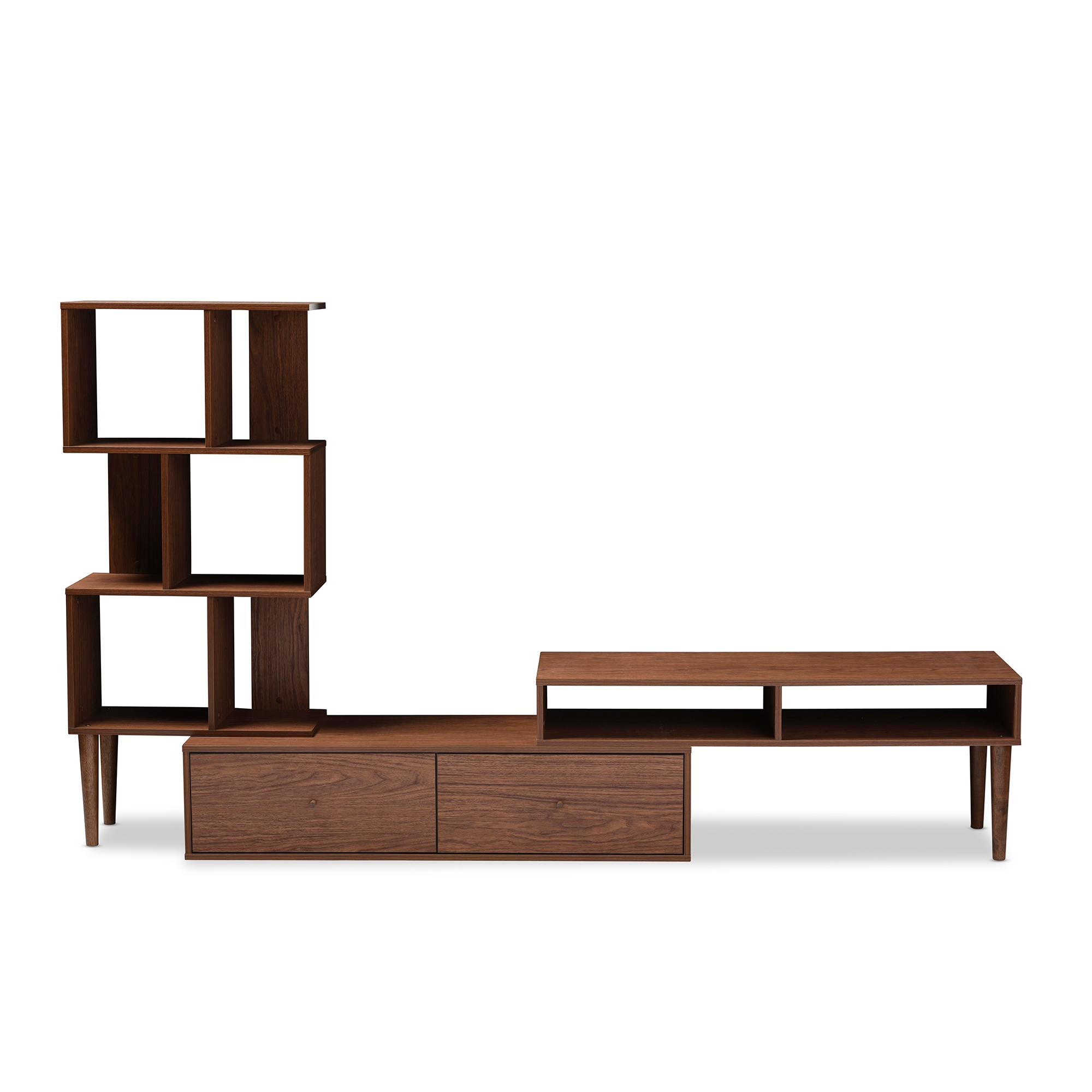 baxton studio haversham mid century retro modern tv stand entertainment center and display unit. Black Bedroom Furniture Sets. Home Design Ideas