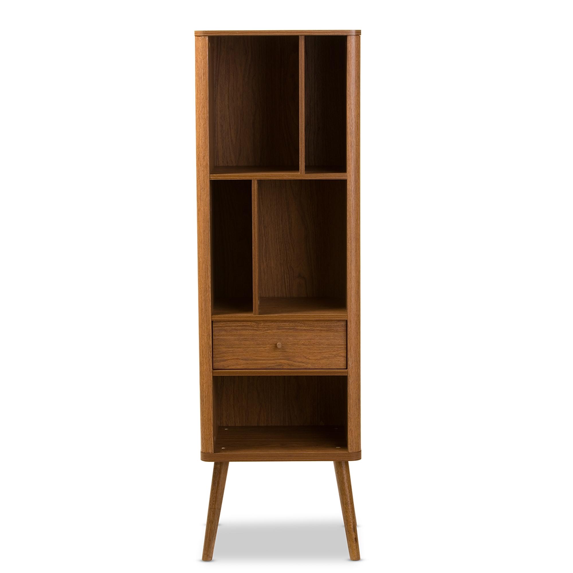 Lovely Baxton Studio Ellingham Mid Century Retro Modern 1 Drawer Sideboard Storage  Cabinet Bookcase Organizer