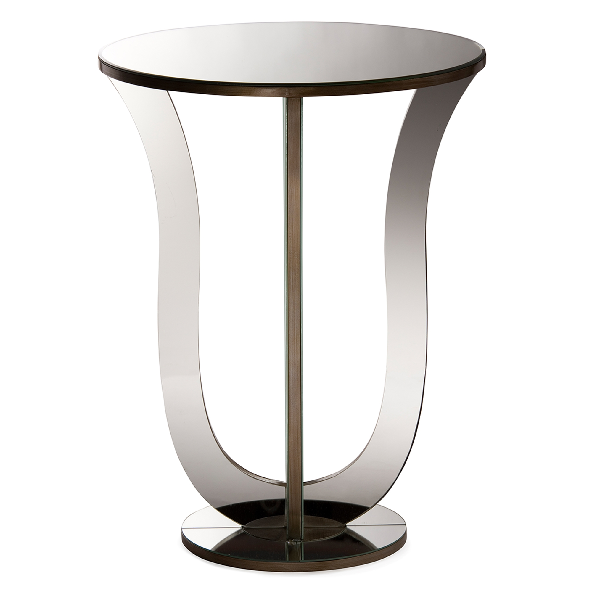 baxton studio kylie modern and hollywood regency glamour style mirrored accent side table bsors1242