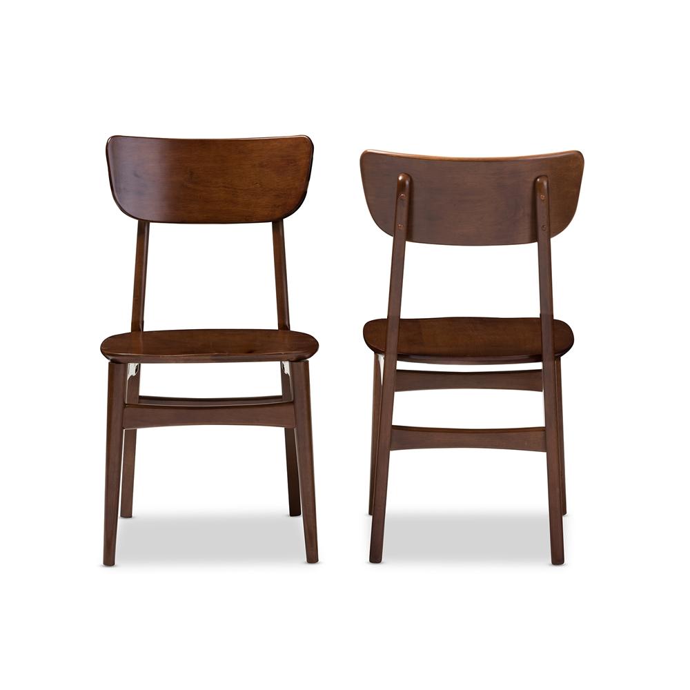 Bentwood chair modern -  Baxton Studio Netherlands Mid Century Modern Scandinavian Style Dark Walnut Bent Wood Dining Side Chair
