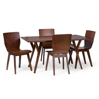 Baxton studio elsa mid century modern scandinavian style for S bent dining room furniture