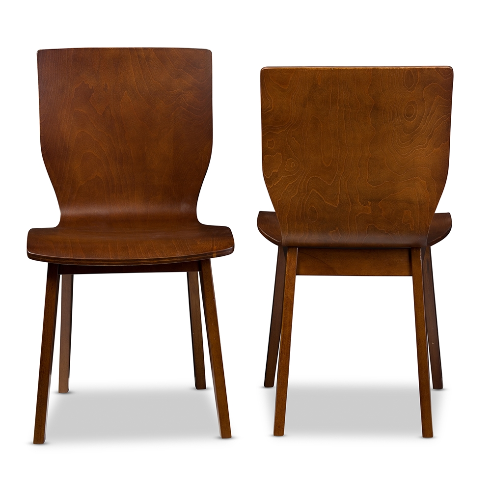 Bentwood chair modern -  Baxton Studio Elsa Mid Century Modern Scandinavian Style Dark Walnut Bent Wood Dining Chair