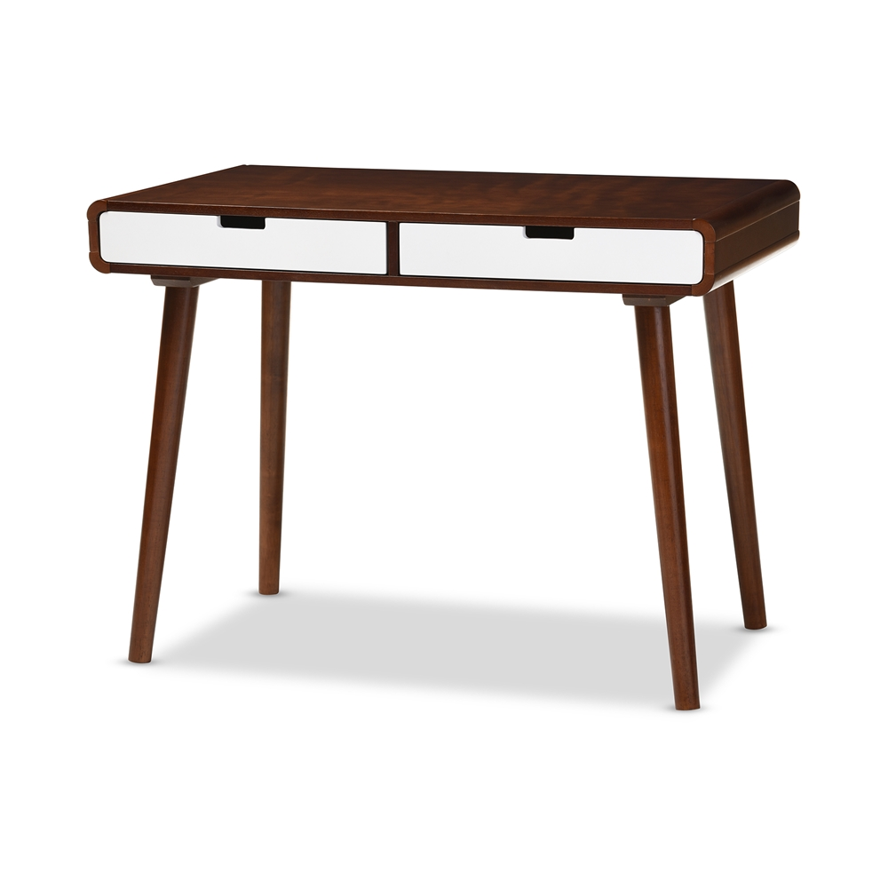 Baxton Studio Casarano Mid Century Modern Dark Walnut And
