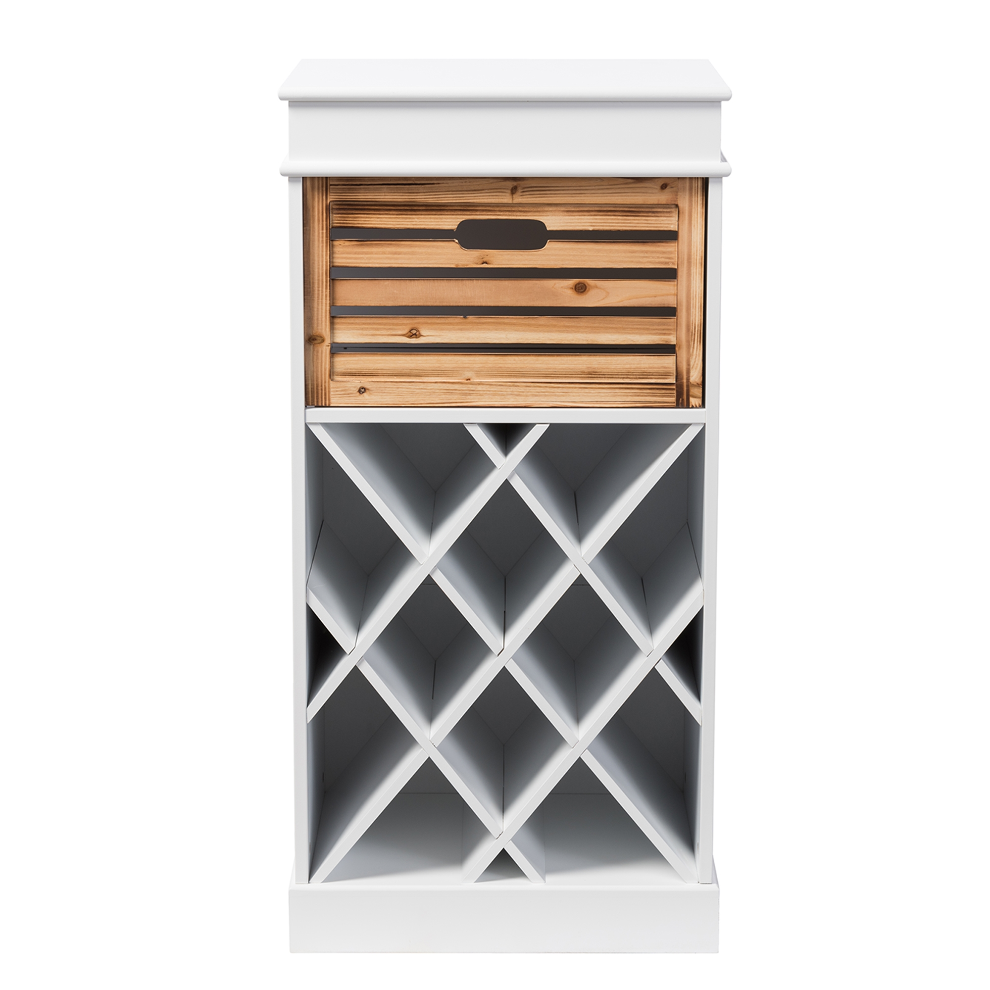 Wonderful Baxton Studio Dresdon British Colonial Classical Country Style White And  Natural 1 Drawer Cabinet With Part 27