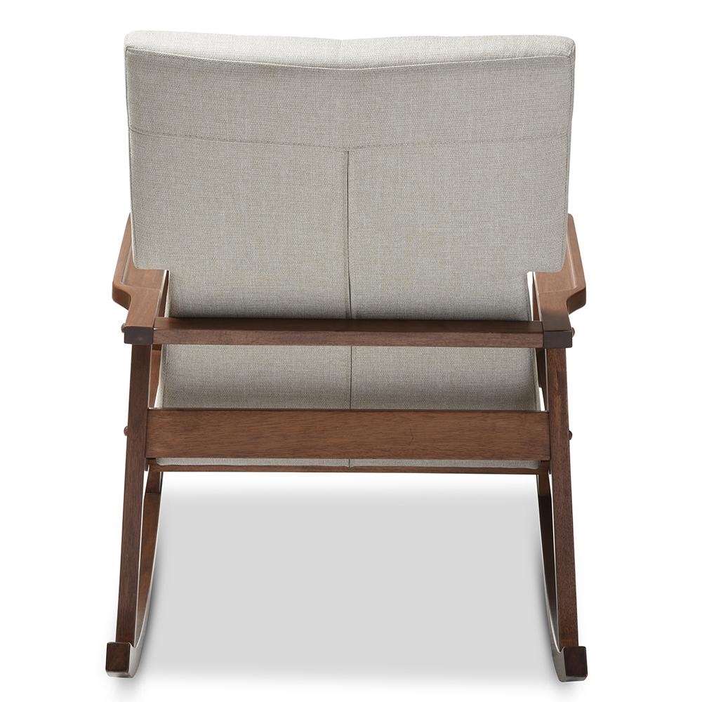 Modern Rocking Chair Baxton Studio Agatha Mid Century Modern Light Beige Fabric