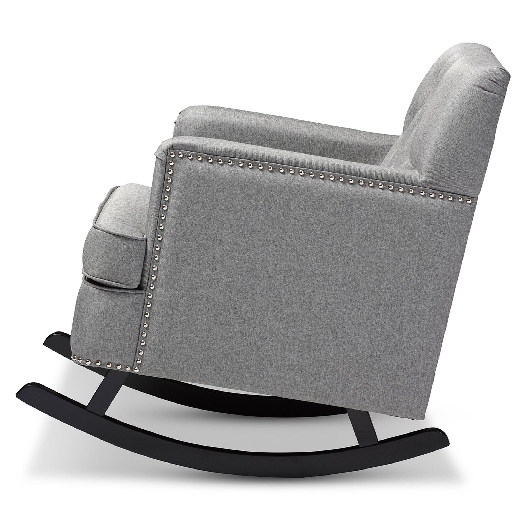 ... Baxton Studio Bethany Modern And Contemporary Grey Fabric Upholstered  Button Tufted Rocking Chair   BSOBBT5189 ...