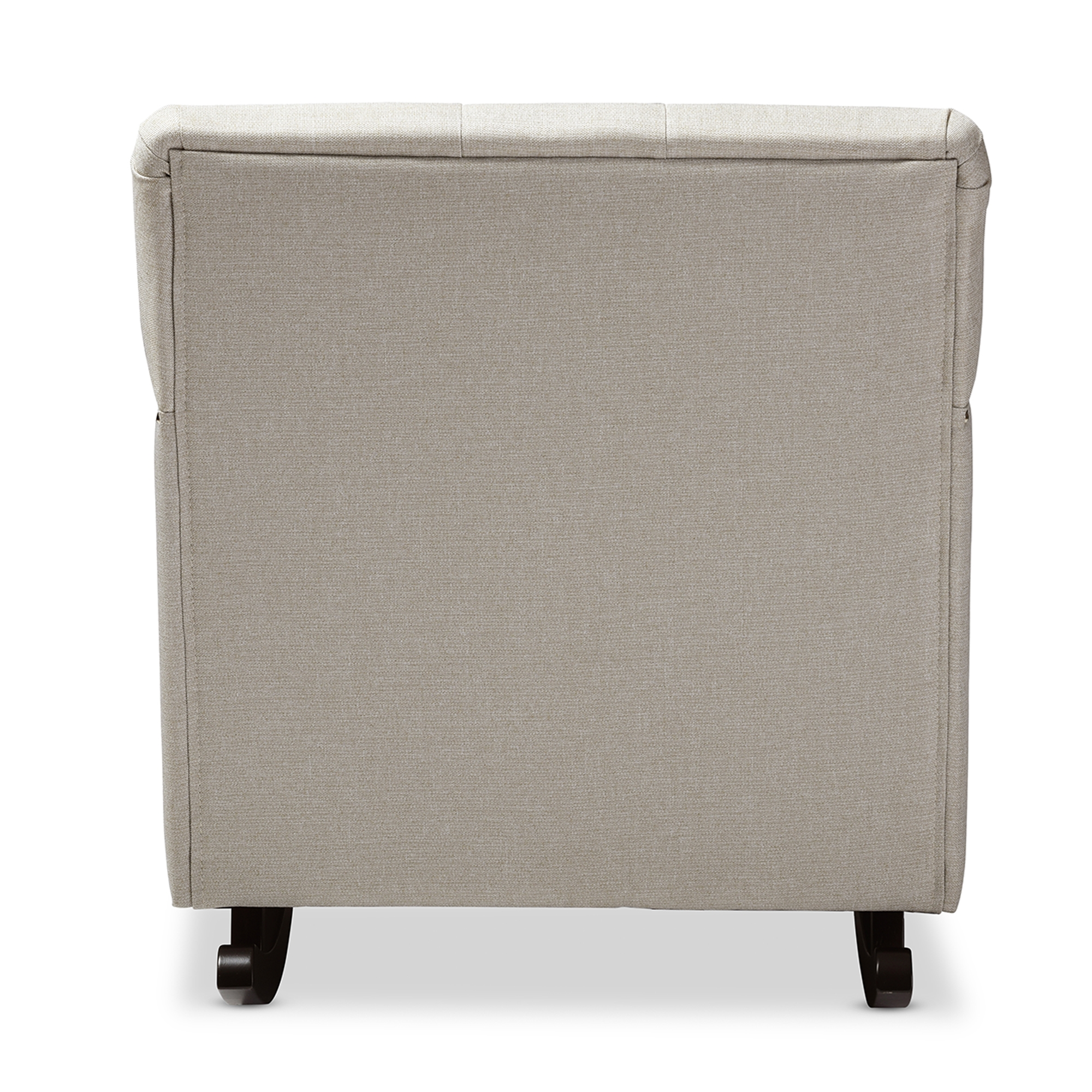 ... Baxton Studio Bethany Modern And Contemporary Light Beige Fabric  Upholstered Button Tufted Rocking Chair ...