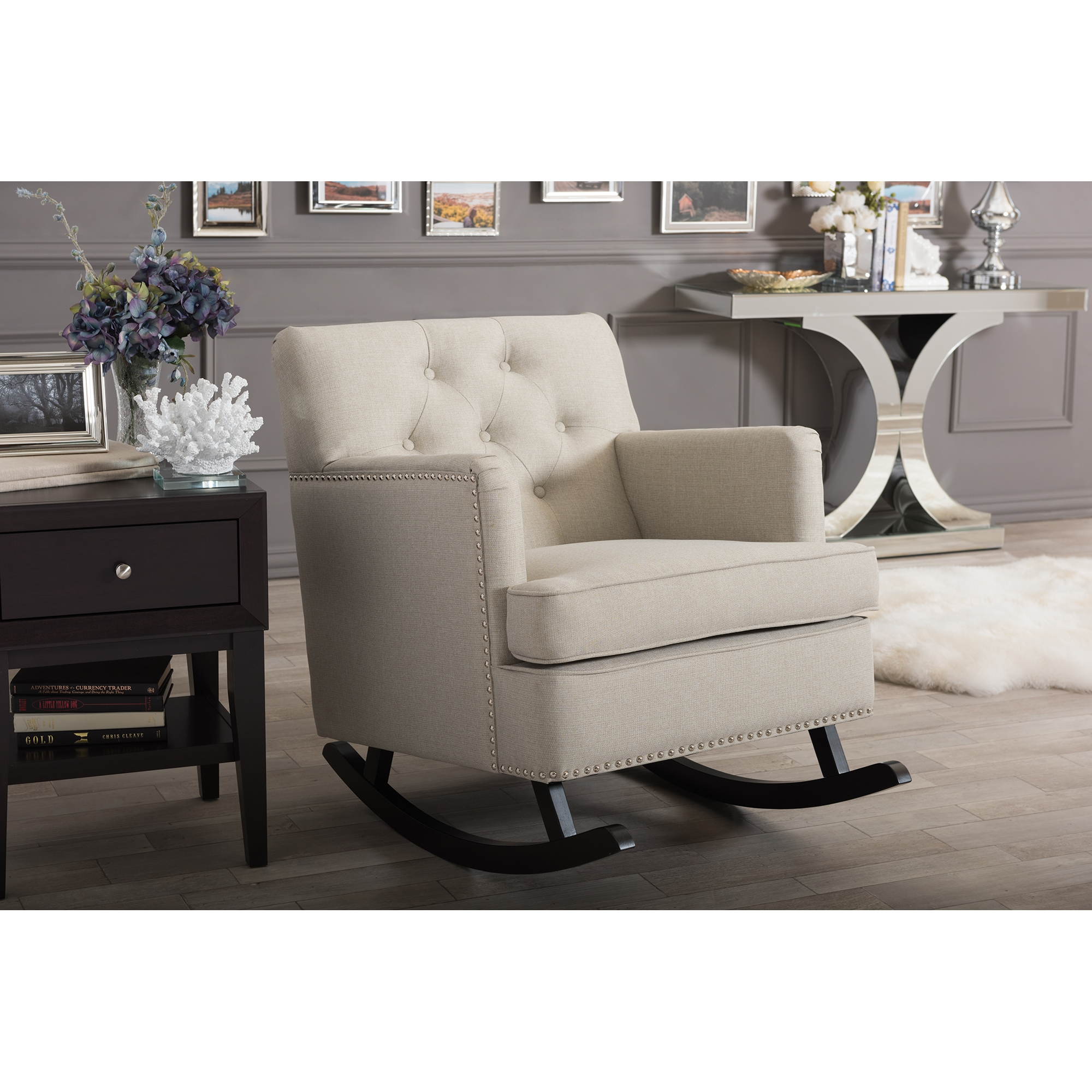 Fabric Rocking Chair Home Design Ideas and
