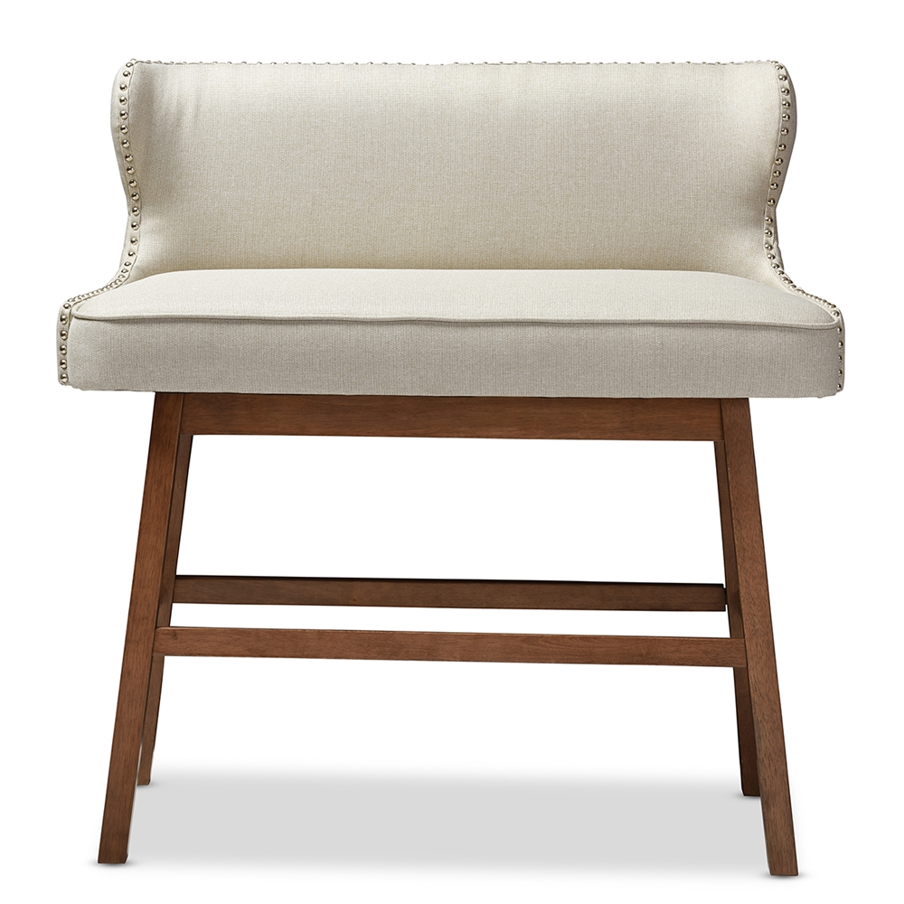 baxton studio gradisca modern and contemporary light beige fabric buttontuftedupholstered bar bench banquette. baxton studio gradisca modern and contemporary light beige fabric