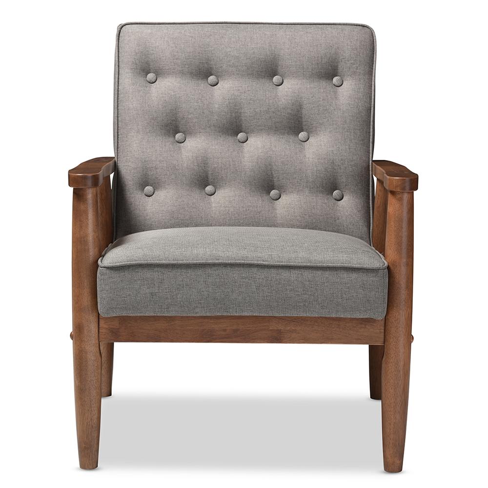 baxton studio sorrento midcentury retro modern grey fabric  - baxton studio sorrento midcentury retro modern grey fabric upholsteredwooden lounge chair