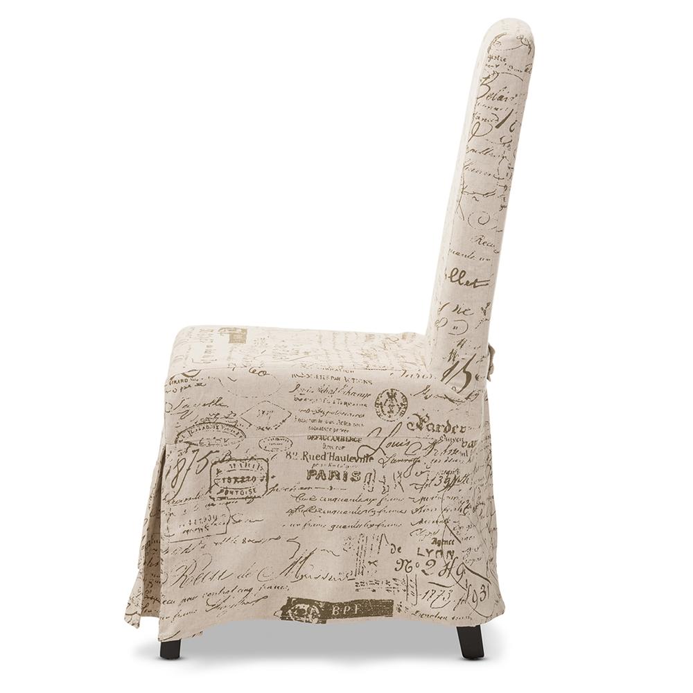 Baxton Studio Picard French Script Beige Linen Modern