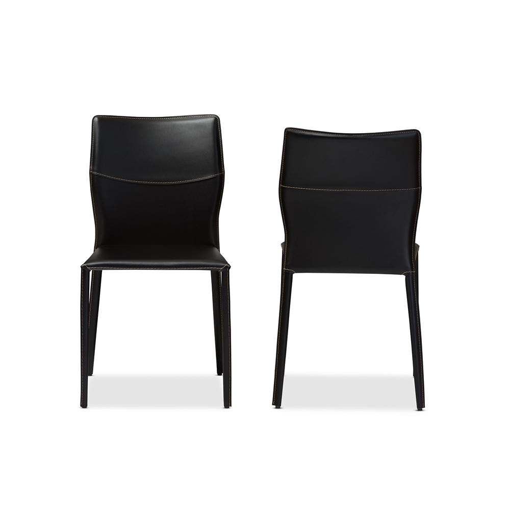 Baxton Studio Asper Modern and Contemporary Black Leather ...