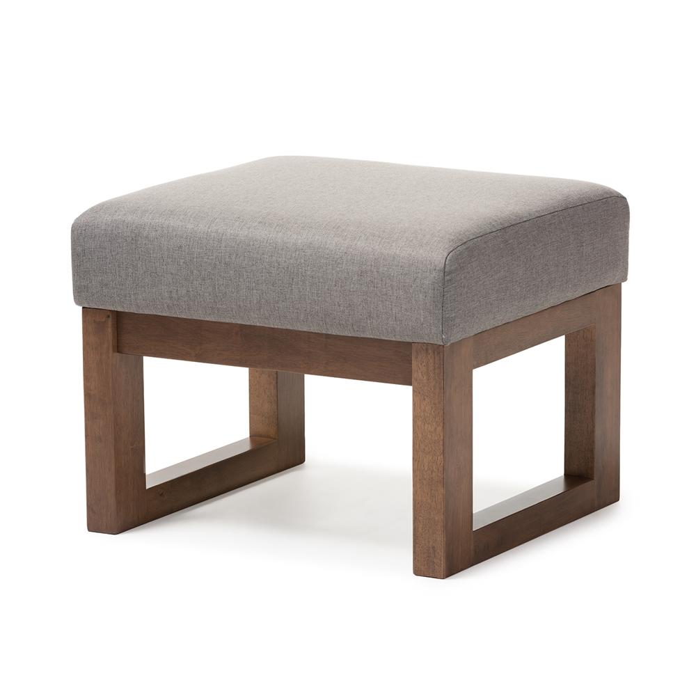 baxton studio yashiya midcentury retro modern grey fabric  -  baxton studio yashiya midcentury retro modern grey fabric upholsteredottoman stool  bsobbt
