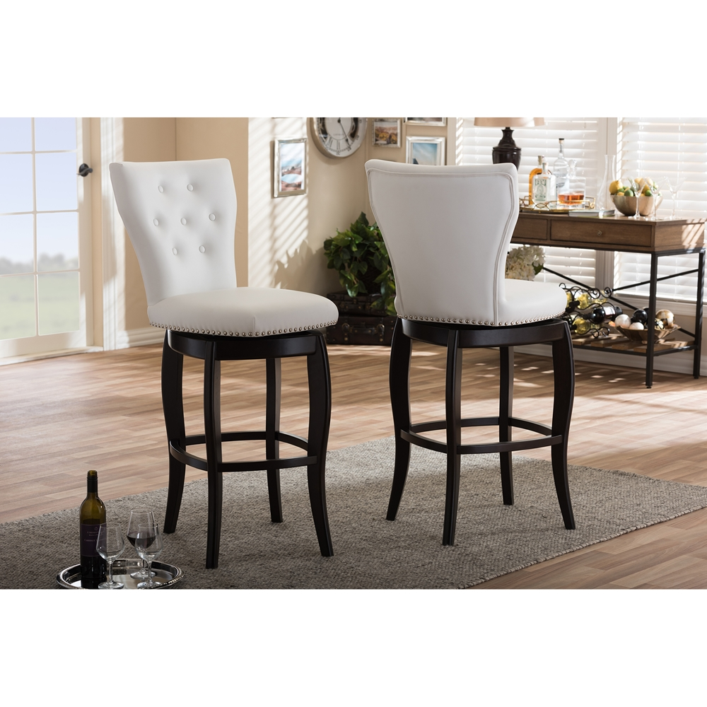 Baxton Studio Leonice Modern And Contemporary White Faux