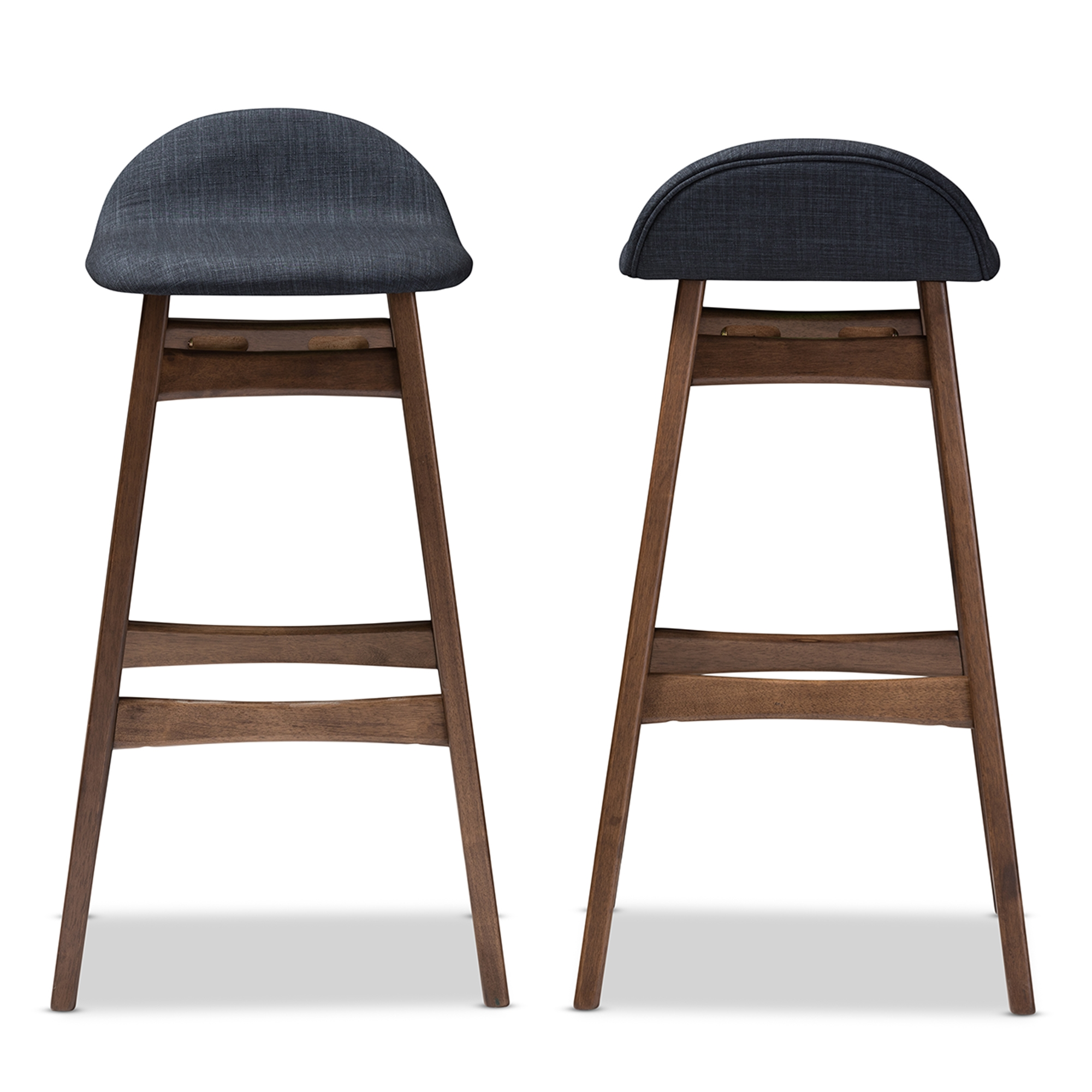 Baxton Studio Bloom Mid-century Retro Modern Scandinavian Style Dark Blue Fabric Upholstered Walnut Wood Finishing 30-Inches Bar Stool  sc 1 st  Baxton Studio Outlet & Baxton Studio Bloom Mid-century Retro Modern Scandinavian Style ... islam-shia.org