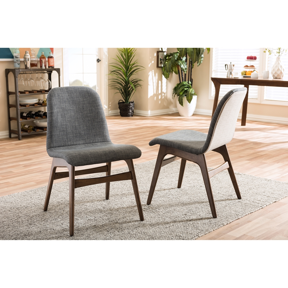 Baxton studio embrace mid century retro modern for Modern fabric dining room chairs