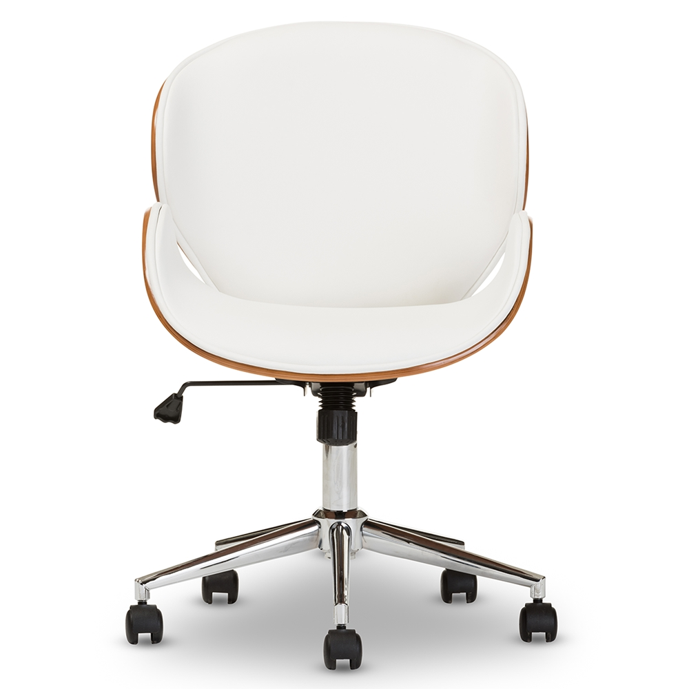baxton studio bruce modern and contemporary white and walnut office chairaffordable modern furniture in chicago. office chairs  home office furniture  affordable modern