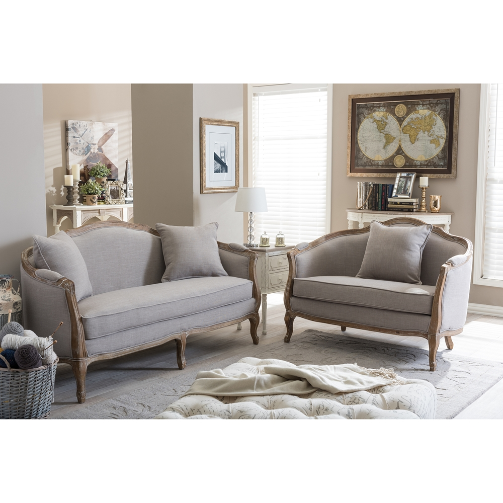 baxton studio chantal french country white wash weathered