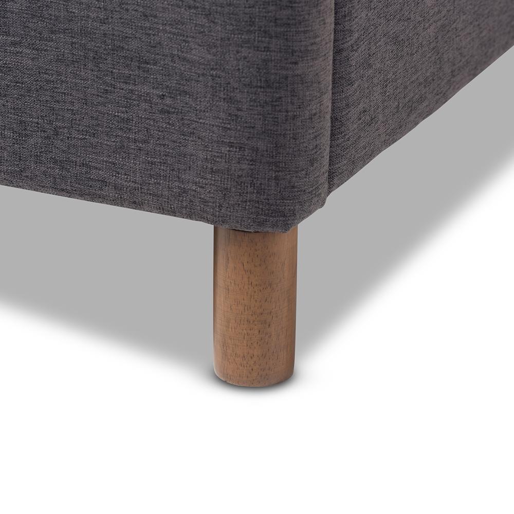 Baxton Studio Germaine Mid Century Modern Dark Grey Fabric