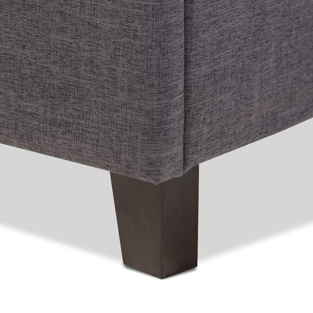 ... Baxton Studio Lea Modern and Contemporary Dark Grey Fabric Queen Size  Storage Platform Bed - BSOBBT6572 ... - Baxton Studio Lea Modern And Contemporary Dark Grey Fabric Queen