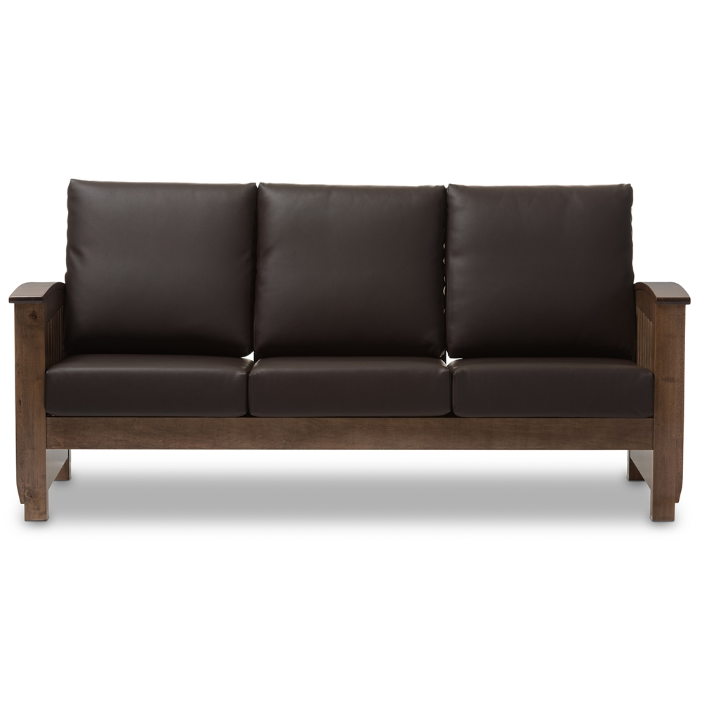 Baxton studio charlotte modern classic mission style for Classic style sofa