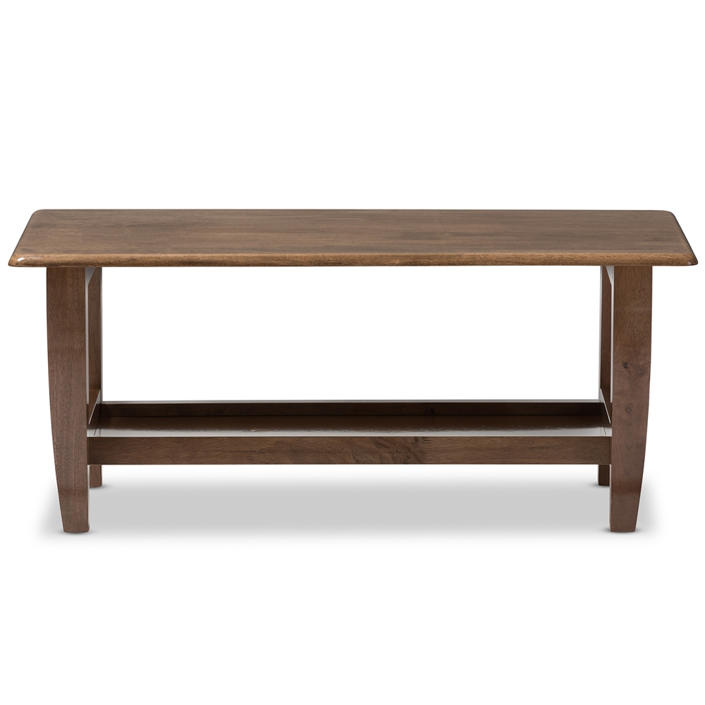 Baxton Studio Pierce Mid Century Modern Walnut Finished