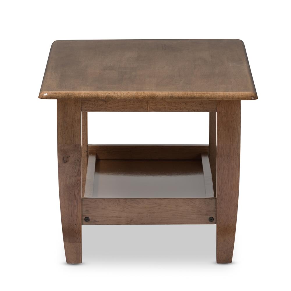 Baxton Studio Pierce Mid Century Modern Walnut Finished Brown Wood