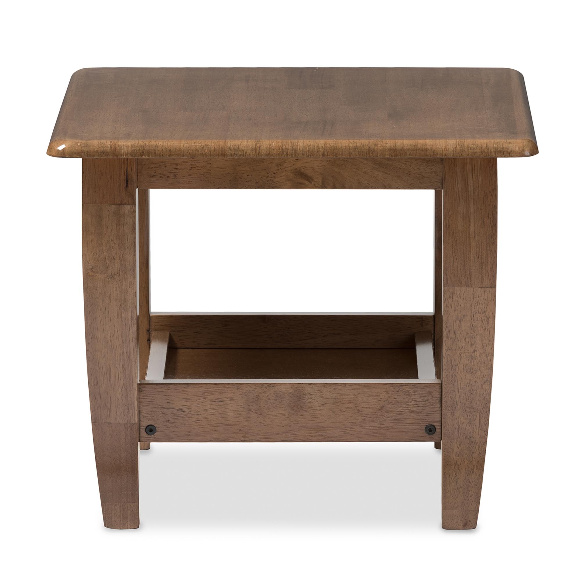... Baxton Studio Pierce Mid Century Modern Walnut Finished Brown Wood End  Table   BSOSW3656  ...