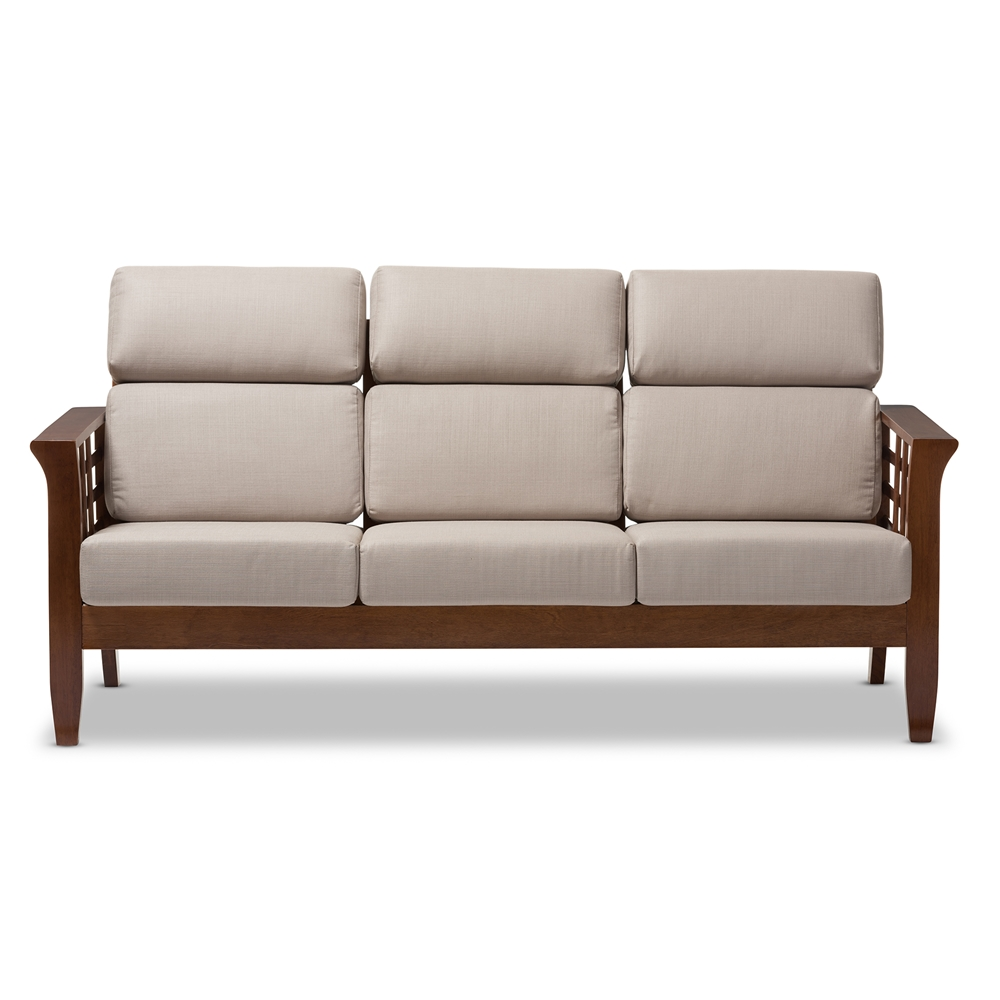 Mission Style Living Room Furniture Baxton Studio Larissa Modern Classic Mission Style Cherry Finished