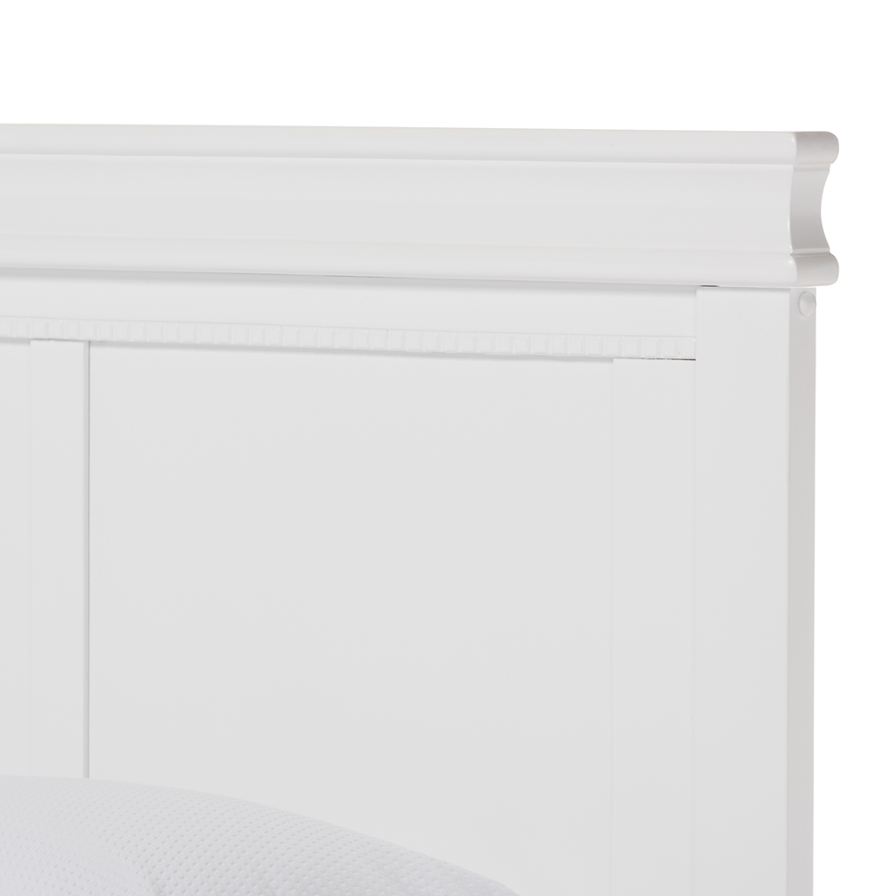 baxton studio amber colonial revival style white solid wood king  -  baxton studio amber colonial revival style white solid wood king size platformbed  bsosw