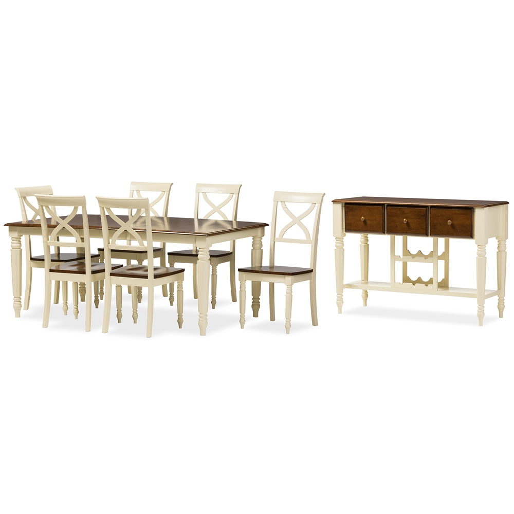 dining sets dining room furniture affordable modern furniture baxton studio ashton modern country cottage buttermilk and