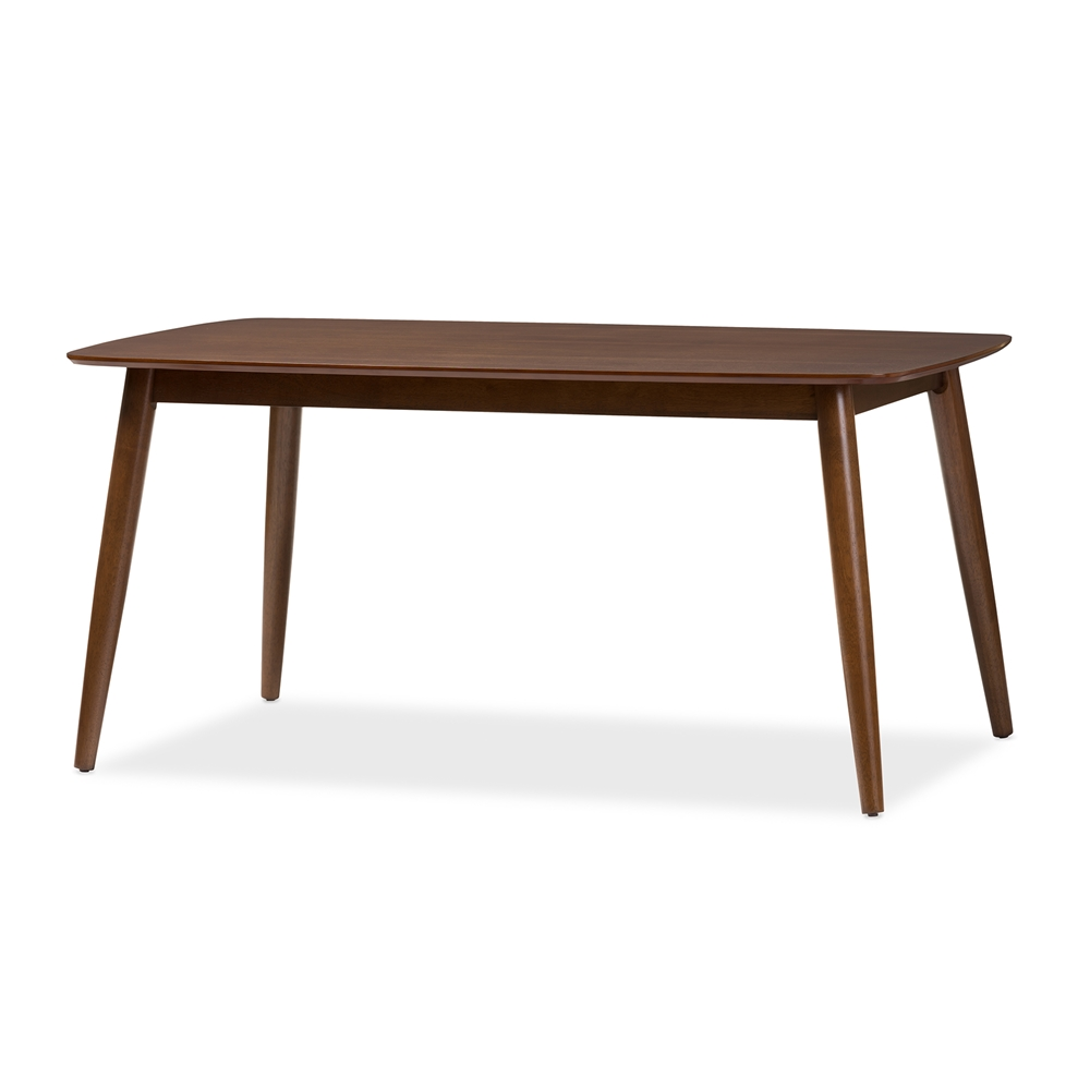 Wood dining table modern - Baxton Studio Flora Mid Century Modern Oak Medium Brown Finishing Wood Dining Table