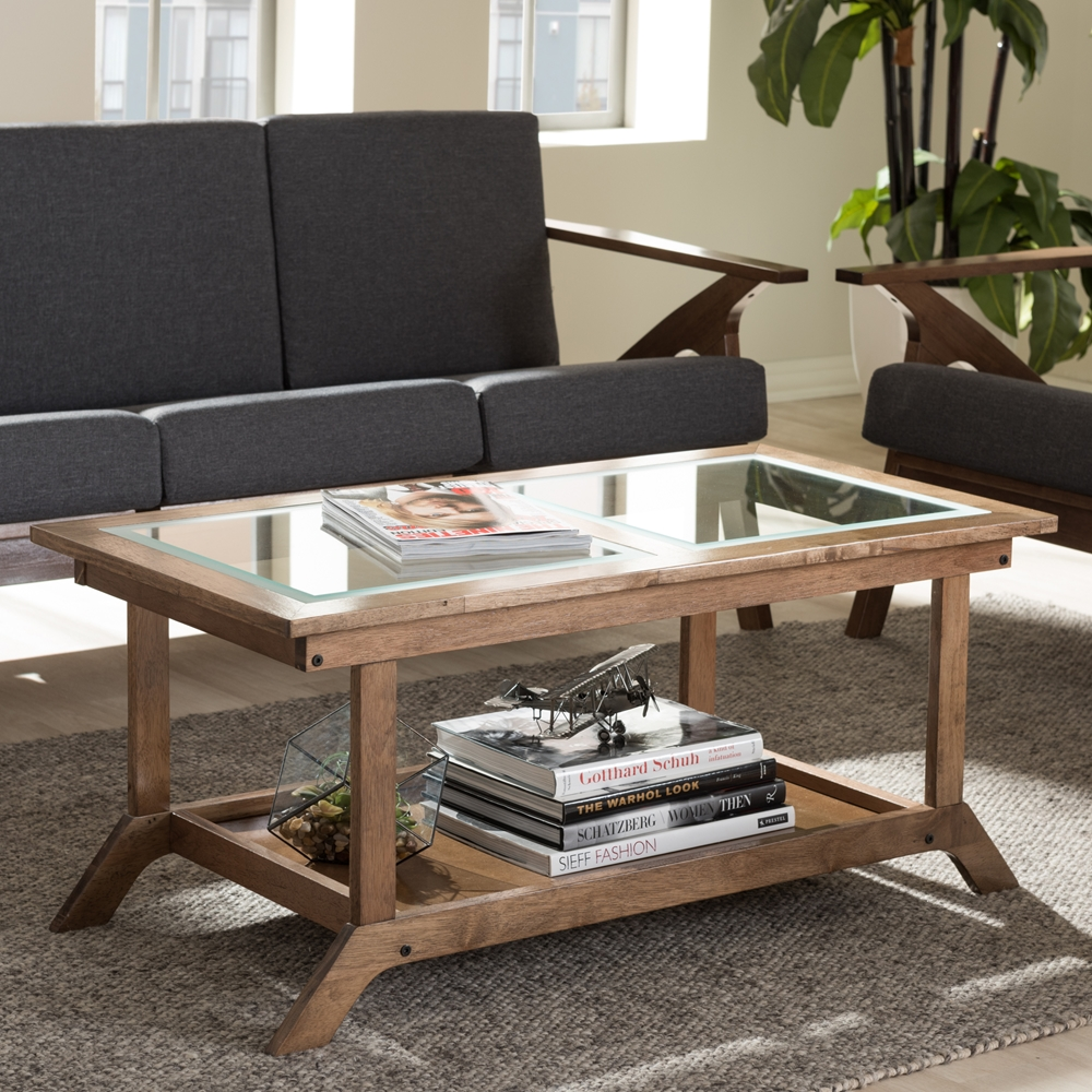 Baxton studio cayla mid century modern walnut brown wood for Baxton studio