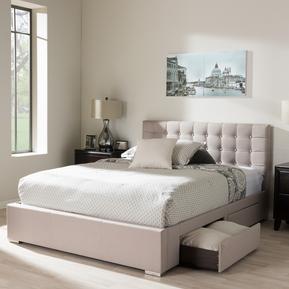 Vig furniture gamma modern platform queen bedroom collection with air - Modern King Bed With Storage Bedmodern King Platform Bed Beautiful King Bed Platform Beautiful King Size