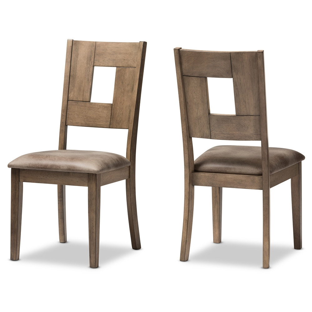 Dining Chairs Brown leather dining chairs | dining room furniture | affordable modern