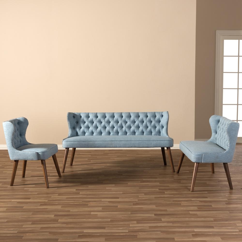 Livingroom 3 Piece Sofa Set BSOBBT8017 Light Blue H1217 21 3PC Set