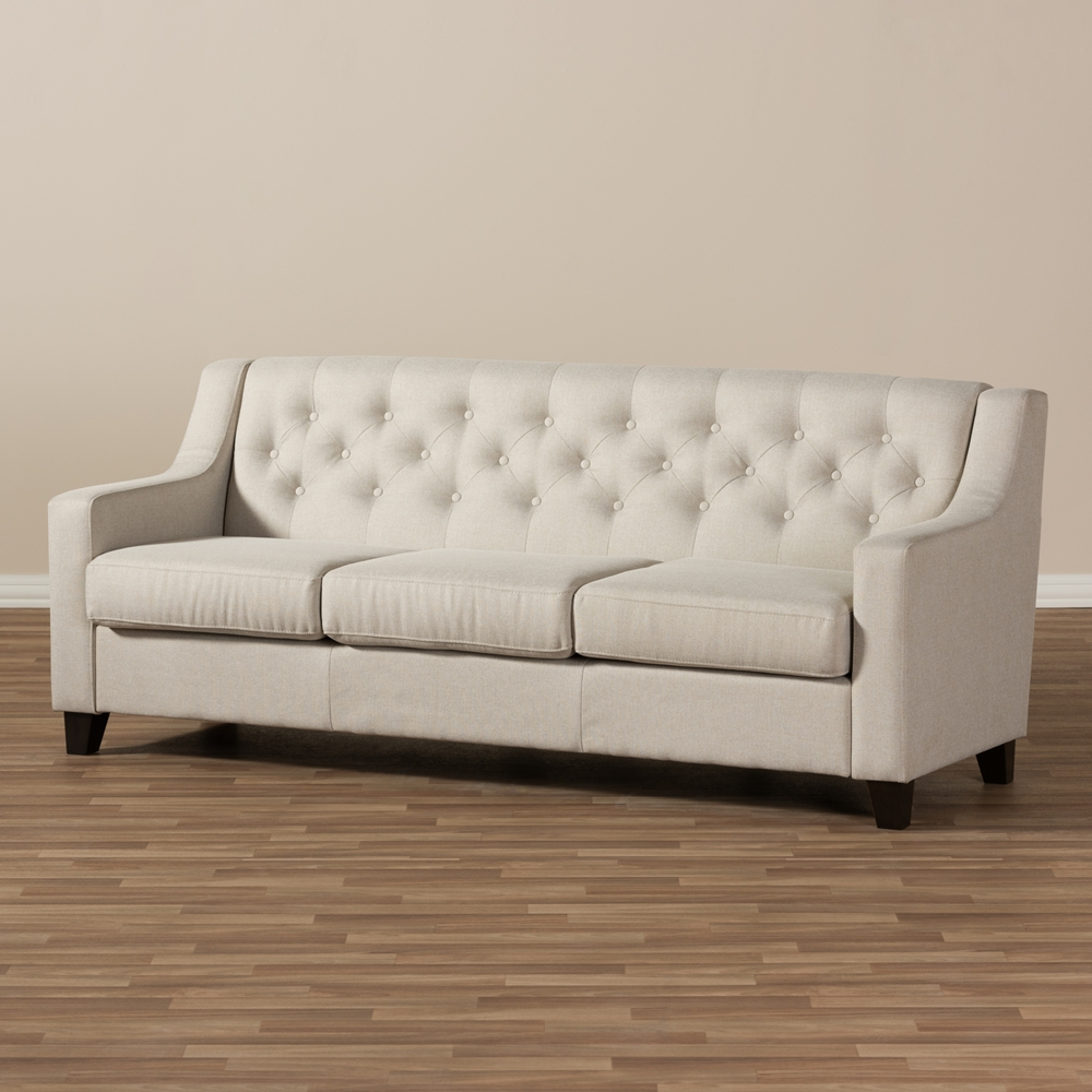 Low Price Modern Lamps Living Room Furniture 5 Seater Sofa: Baxton Studio Arcadia Modern And Contemporary Light Beige
