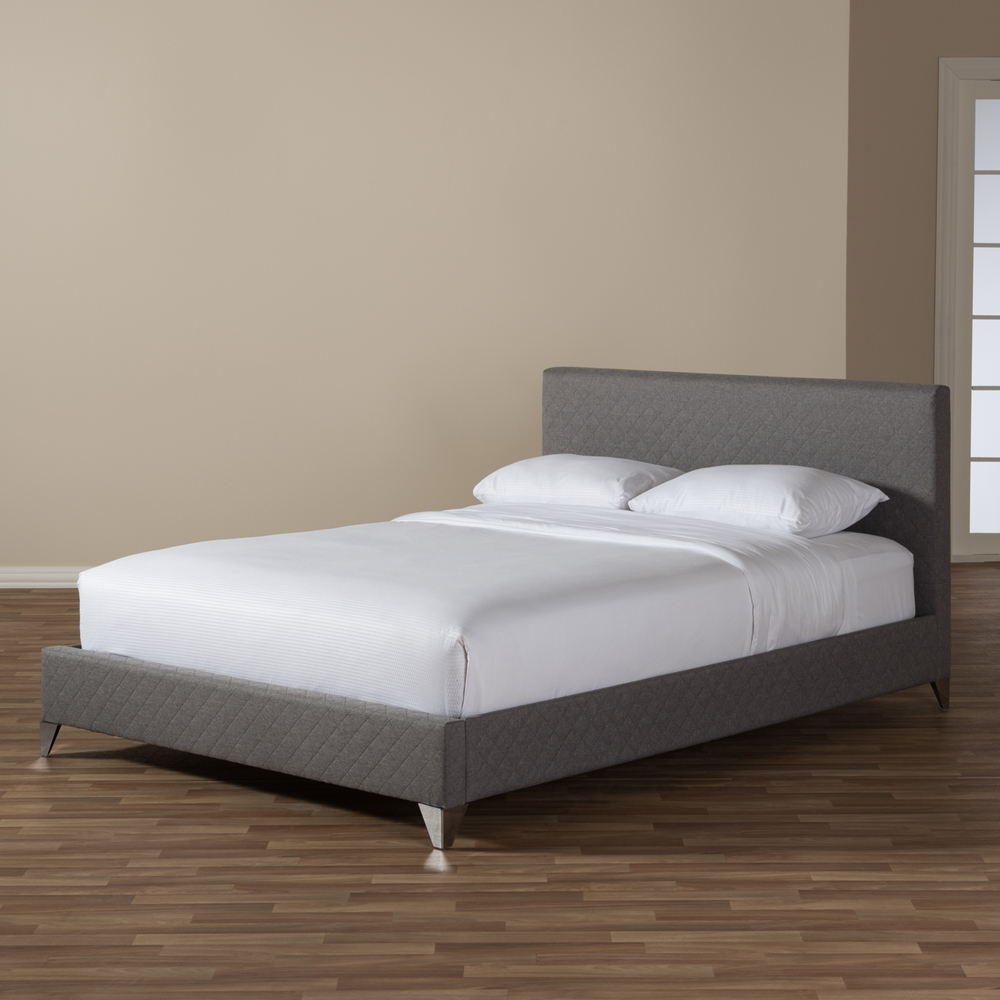 Baxton studio harlow modern and contemporary grey quilted for Harlowe bed