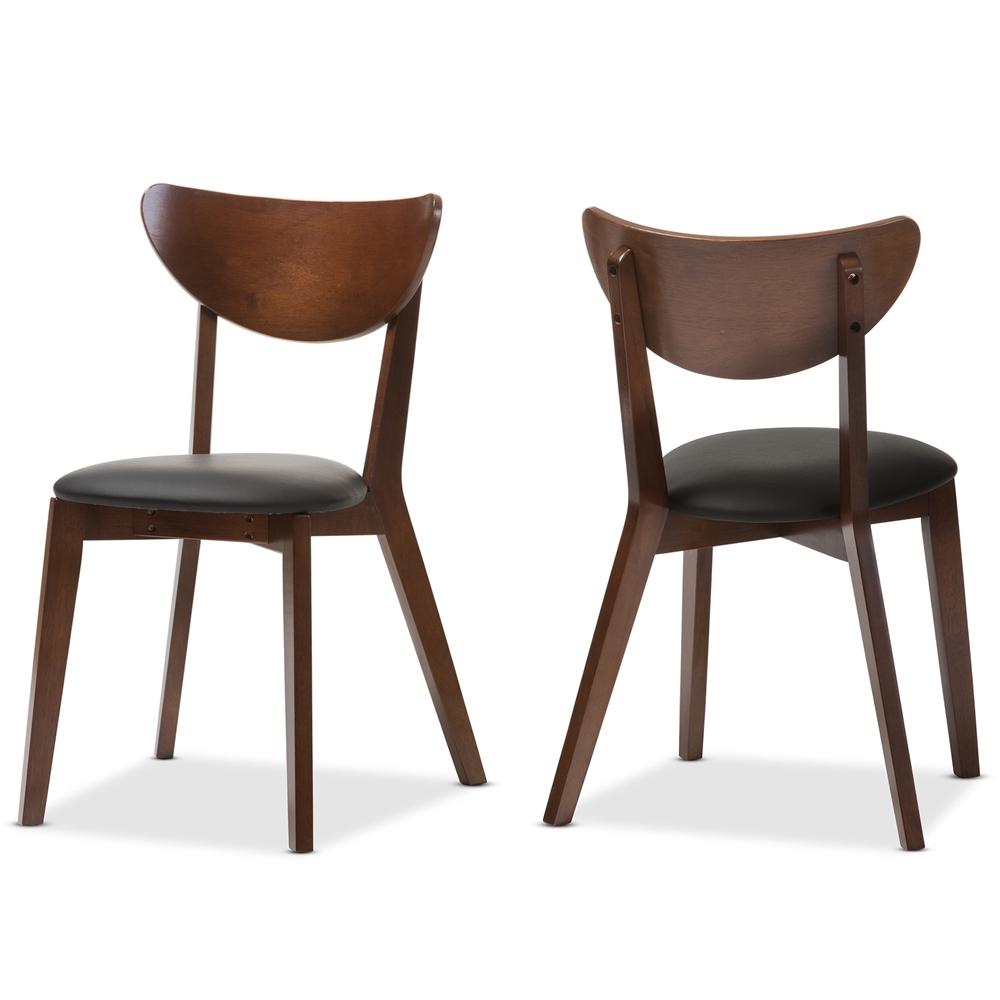 Baxton Studio Sumner Mid Century Walnut Brown Dining Chair