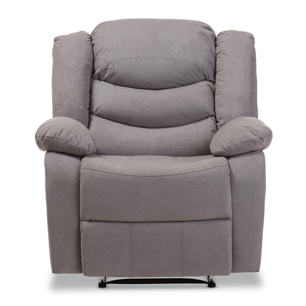 Club chair recliner -  Baxton Studio Lynette Modern And Contemporary Grey Fabric Power Recliner Chair Bsou1294x Grey