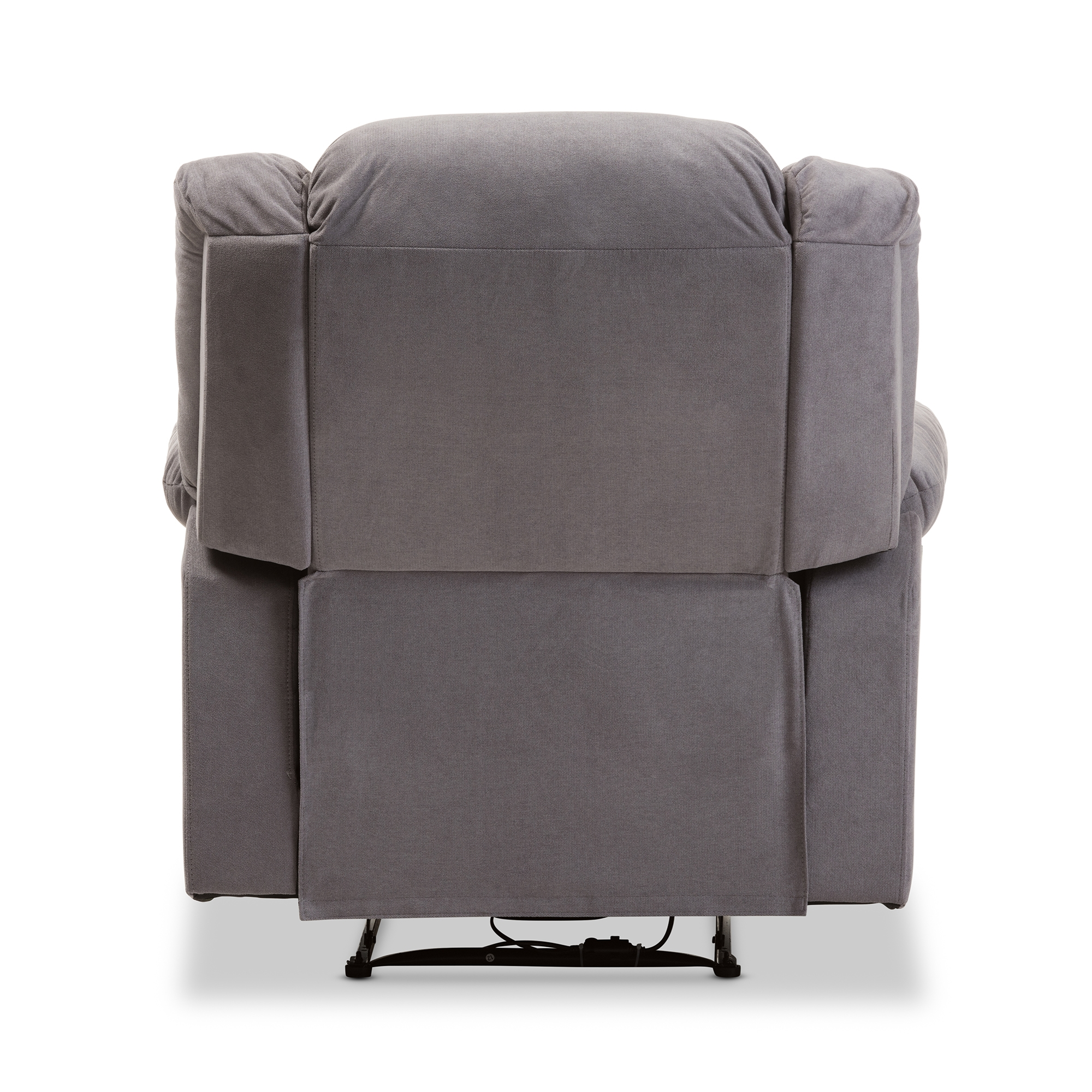 ... Baxton Studio Lynette Modern And Contemporary Grey Fabric Power  Recliner Chair   BSOU1294X Grey  ...