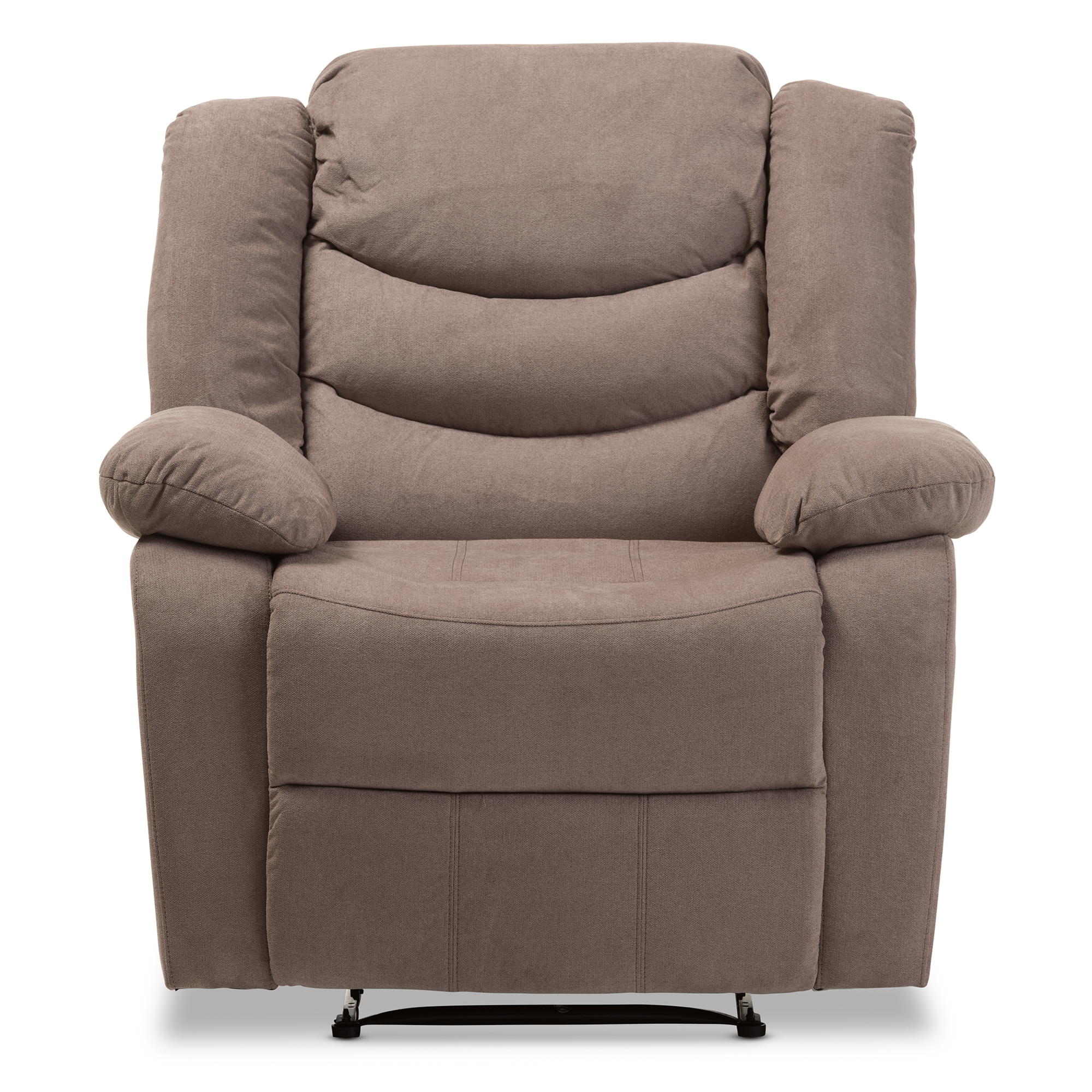 ... Baxton Studio Lynette Modern And Contemporary Taupe Fabric Power  Recliner Chair   BSOU1294X Taupe  ...