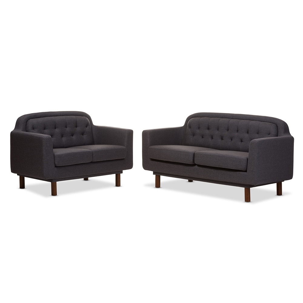 Modern Furniture Virginia baxton studio virginia mid-century modern dark grey fabric