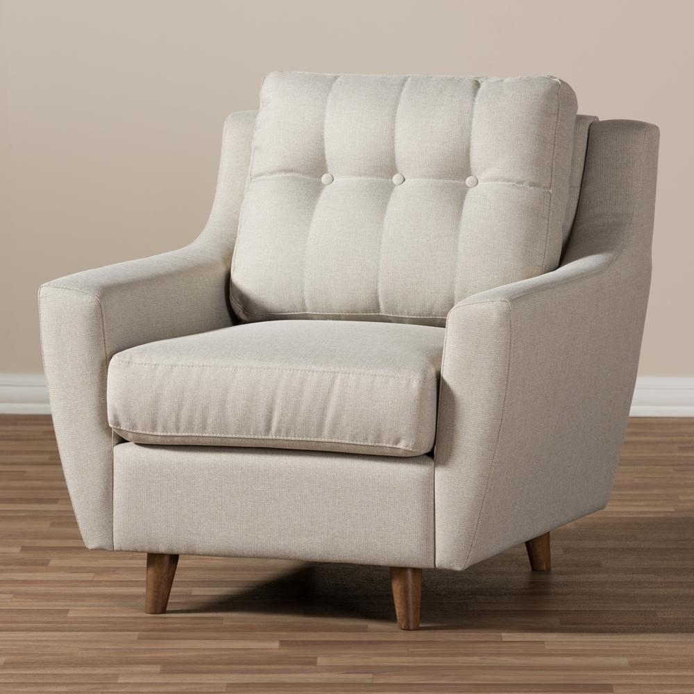 baxton studio mckenzie mid-century modern light beige fabric