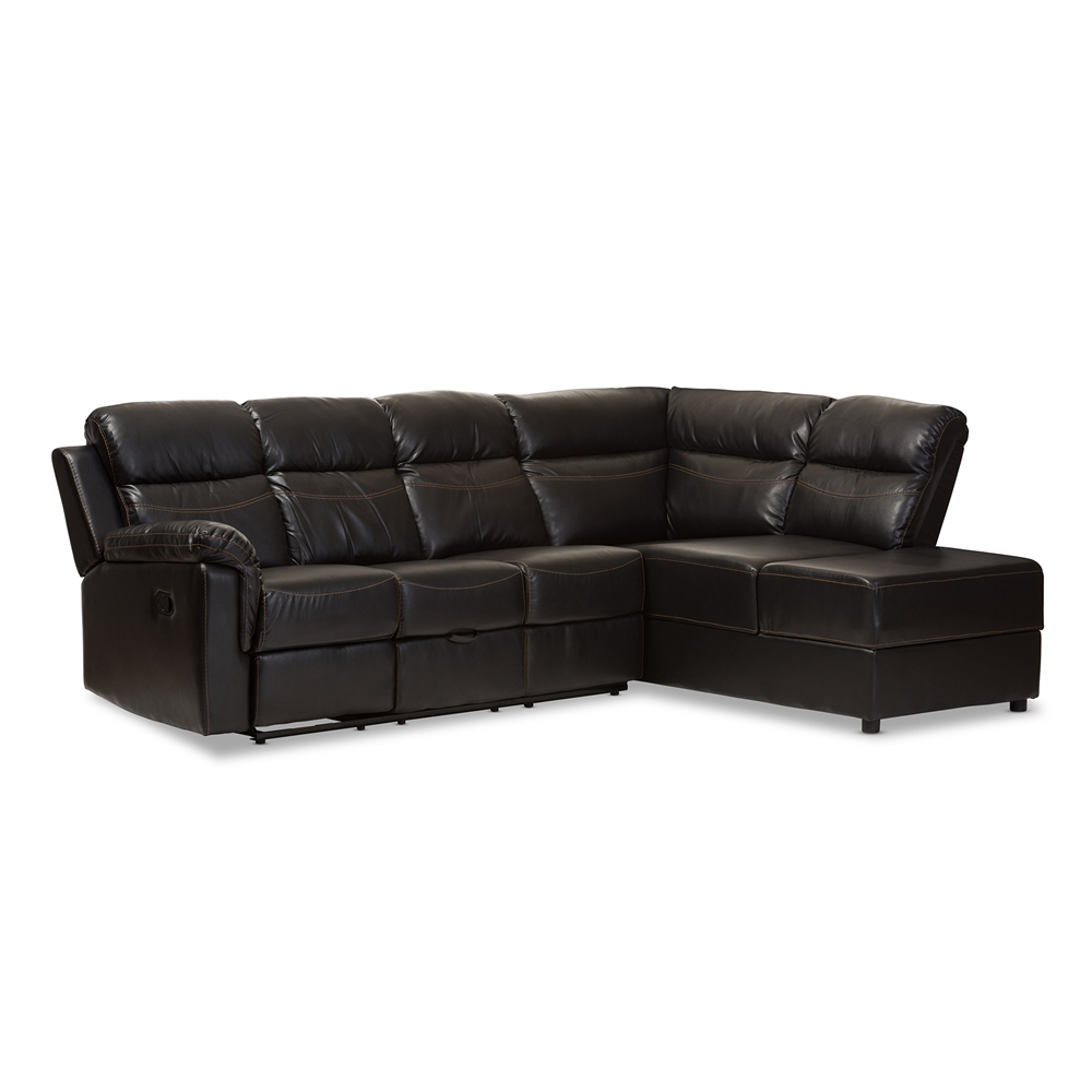 Baxton Studio Roland Modern And Contemporary Black Faux Leather