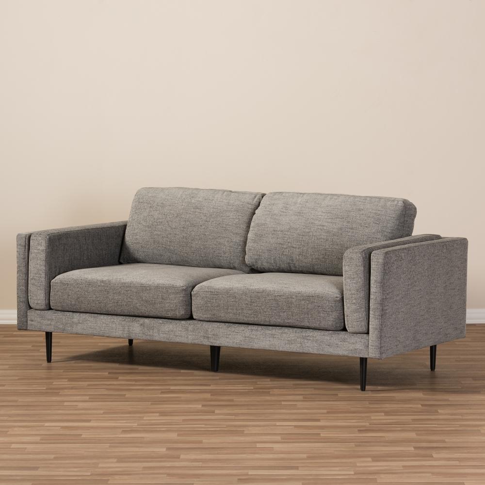 Girls Vintage Bedroom Contemporary Fabric Sofas: Baxton Studio Brittany Retro Mid-Century Modern Grey