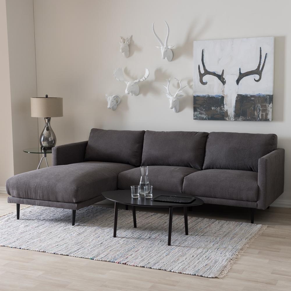 Mid Century Modern Sofas: Baxton Studio Riley Retro Mid-Century Modern Grey Fabric