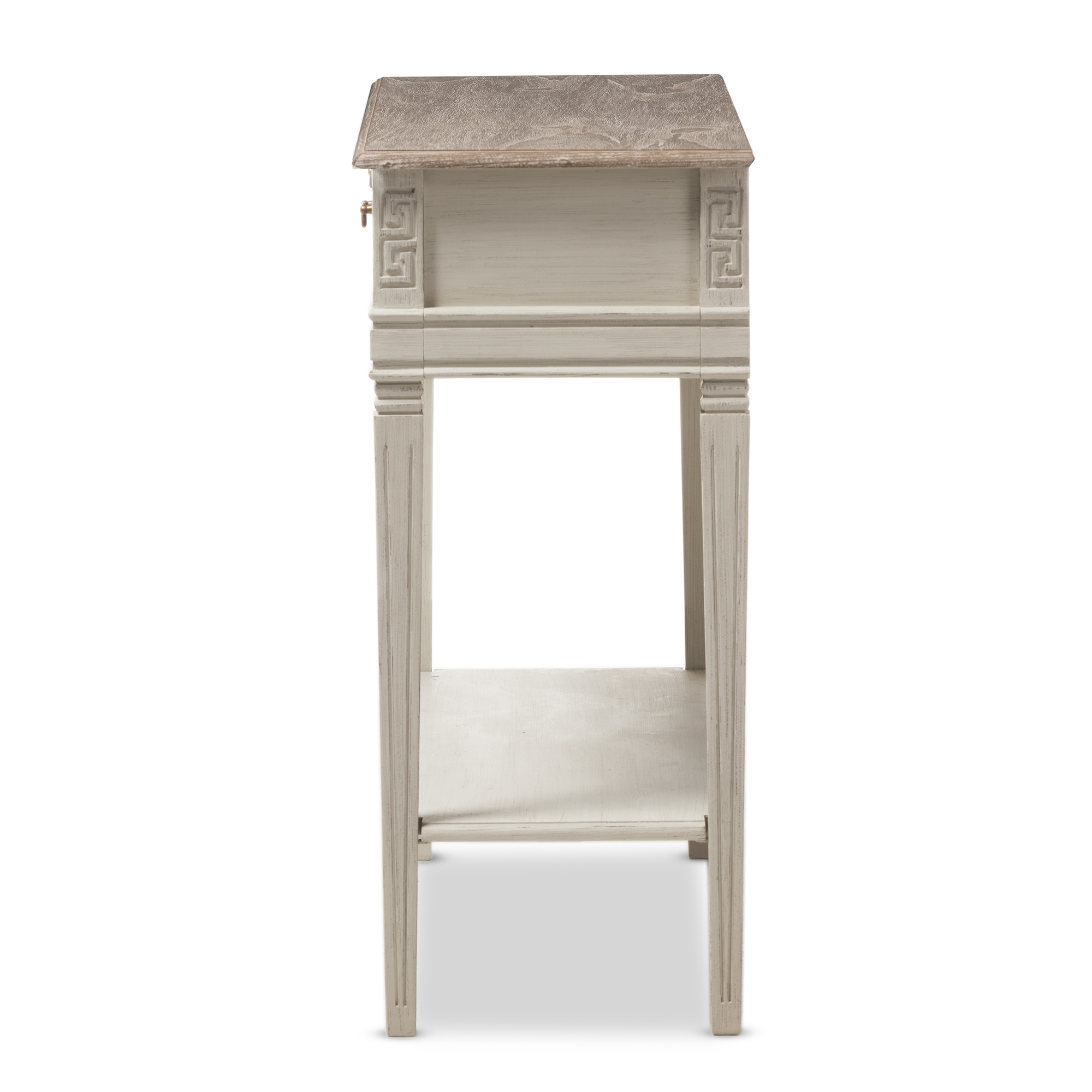 Captivating ... Baxton Studio Arte French Provincial Style Weathered Oak And White Wash  Distressed Finish Wood Two  ...