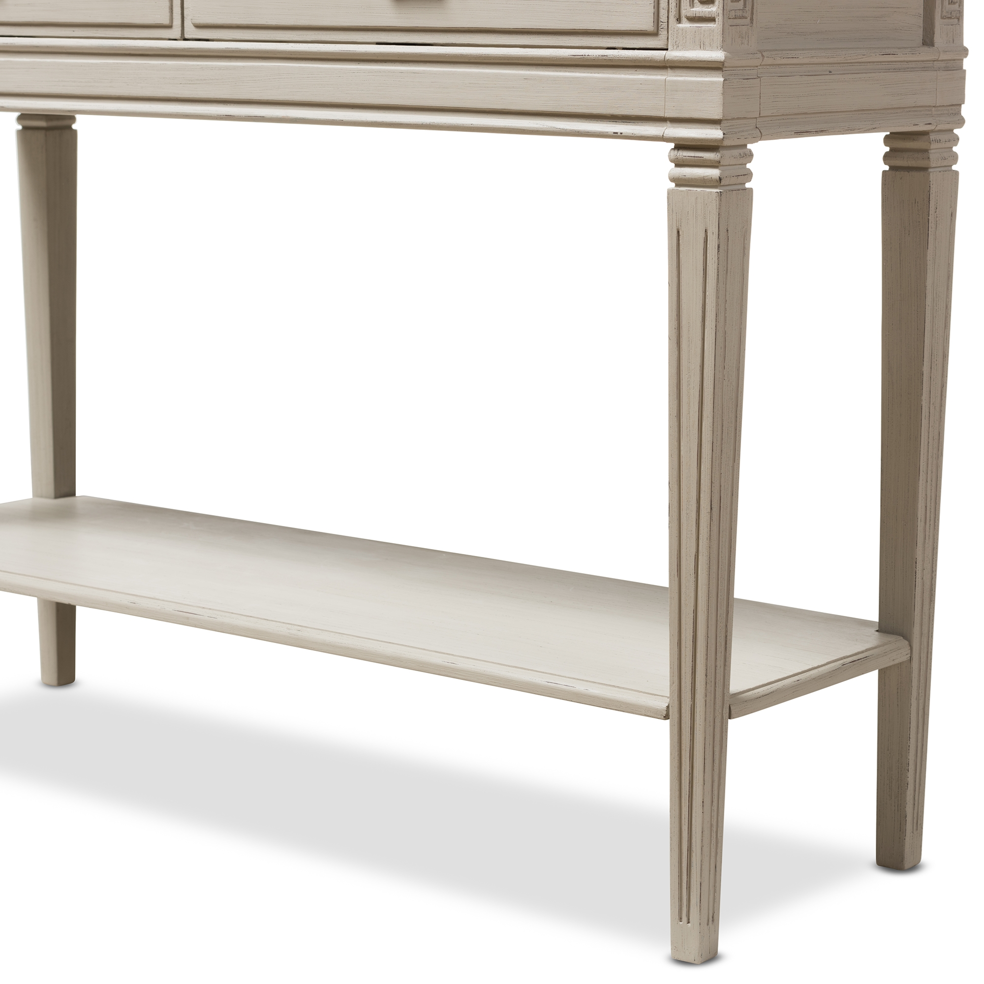 ... Baxton Studio Arte French Provincial Style Weathered Oak And White Wash  Distressed Finish Wood Two  ...
